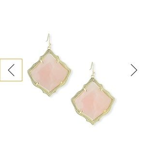 Kendra Scott Kristen Gold Rose Quartz Earrings